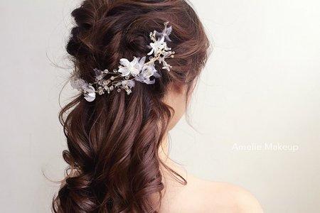 婚紗作品《浪漫優雅公主長髮》