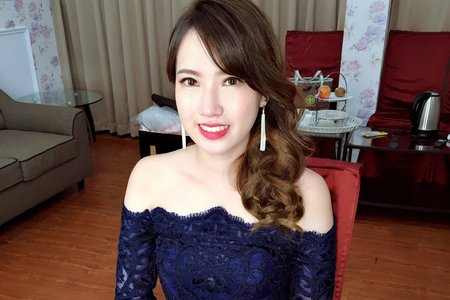 |婚禮造型|韓風皇冠白紗+名媛送客造型