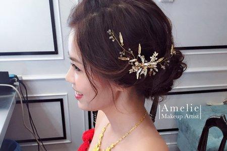 |婚禮造型|皇冠高盤髮+不雕花浪漫捲髮