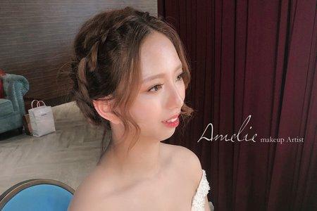 |婚禮造型|編髮低盤髮+編髮公主長髮<彭園>