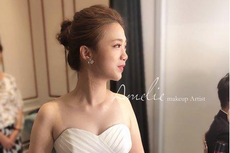 |婚禮造型|美式典雅白紗造型<八德彭園>
