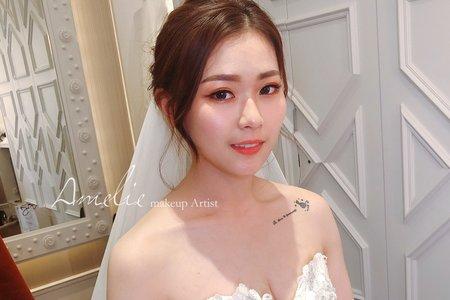 Amelie makeup-短髮新娘造型<皇朝鼎宴>