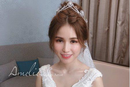  婚禮造型 公主皇冠白紗+優雅低盤髮<桃園晶宴>