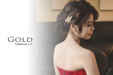 Gold 文定+宴客婚禮造型方案