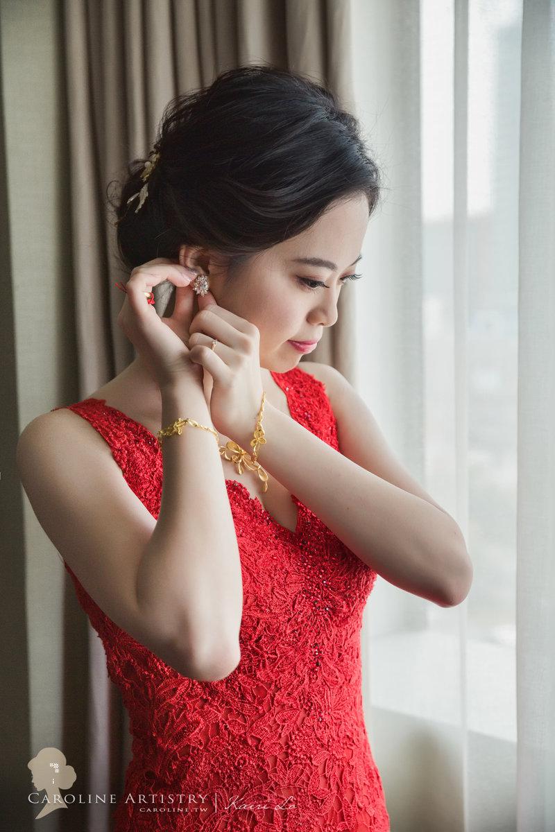 Gold 文定+宴客婚禮3造型作品