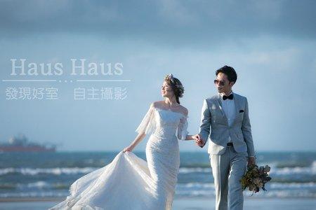💙沙灘浪漫婚紗*精選*<持續增加>韓風-海邊-便服-風格婚紗-沙崙海水浴場 l HAUS ♥♥♥