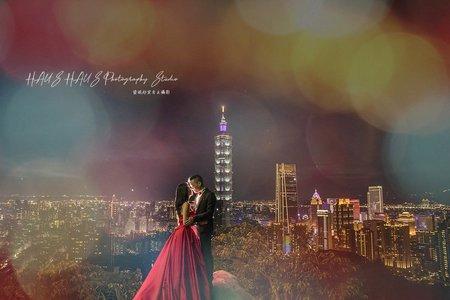【每年精選】市區夜景婚紗| HAUS客照 |