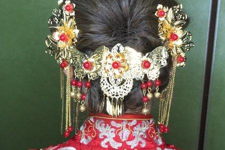 中式龍鳳掛 秀和服 髮型