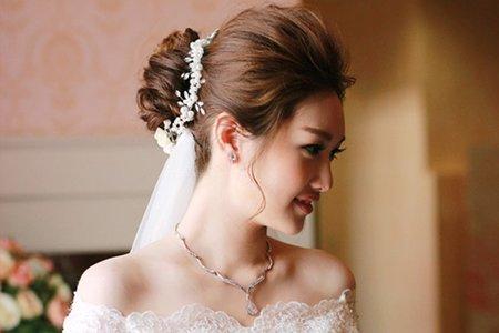 高雅新娘髮型