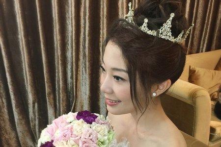 高指定款立冠新娘髮型