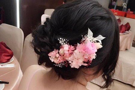 氣質低髻盤髮?(文定造型)
