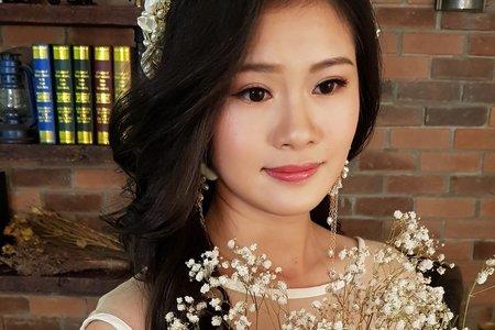 Julia Chang 婚紗寫真 長捲髮造型