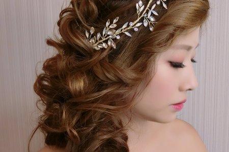 浪漫的編髮造型