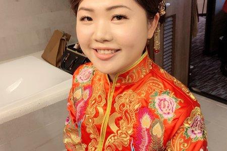 新娘秘書Win- 古典美人,中式龍鳳掛造型,經典傳統禮服造型