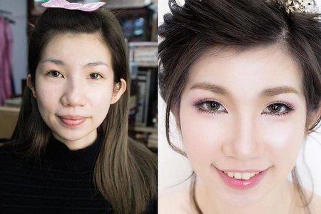深邃眼妝 韓式裸妝-乾燥玫瑰妝