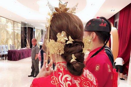 Vicky婚宴-古韻秀禾服造型 新娘好愛