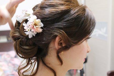 韓系低盤編髮