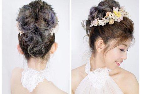 一日妝髮課程-完美高盤花苞頭