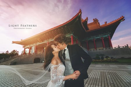 中式建築婚紗