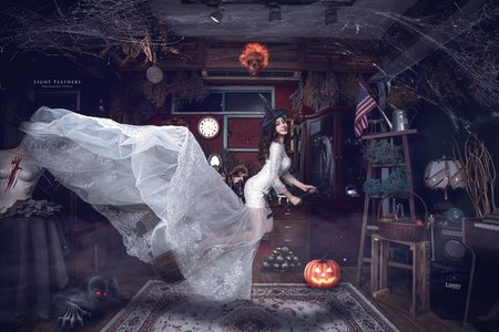 萬聖節漂浮個人寫真婚紗