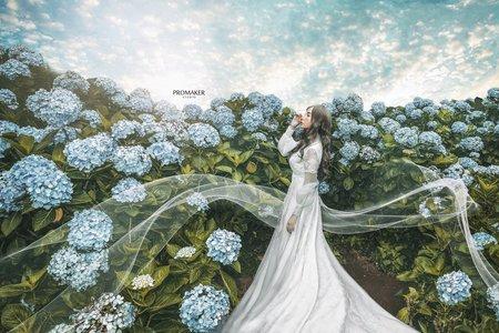 繡球花婚紗
