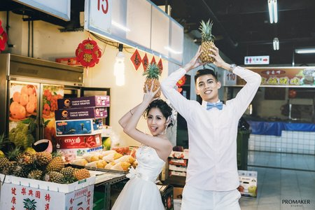 菜市場特色婚紗