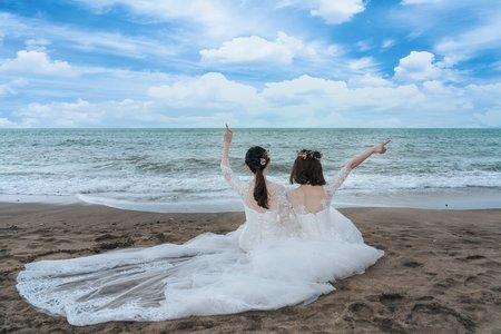 海邊閨蜜婚紗