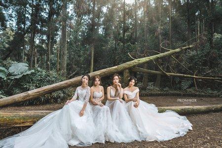 團隊創作閨蜜婚紗