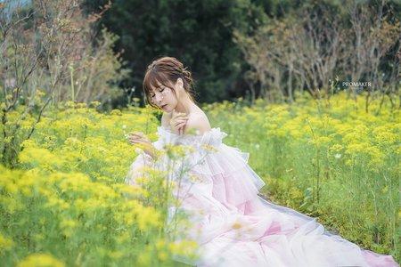 紫藤花主題婚紗