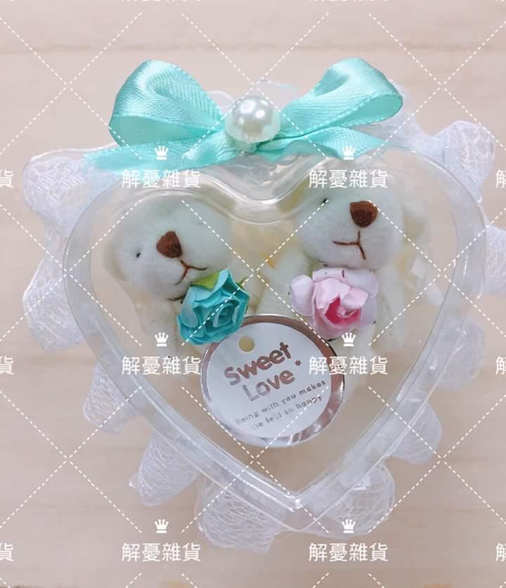 ?愛心結婚對熊+進口比利時金幣巧克力作品