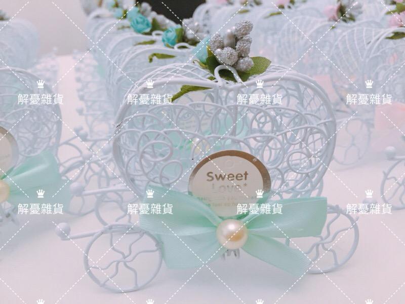 我的夢幻婚禮 鐵製公主馬車 含可愛小熊作品