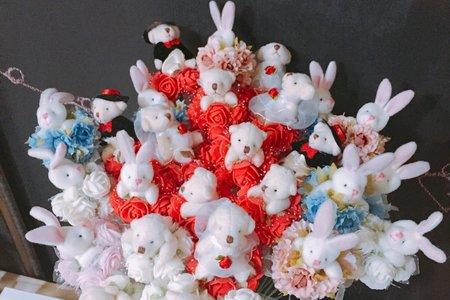 花束熊/兔~浪漫婚禮 求婚花束