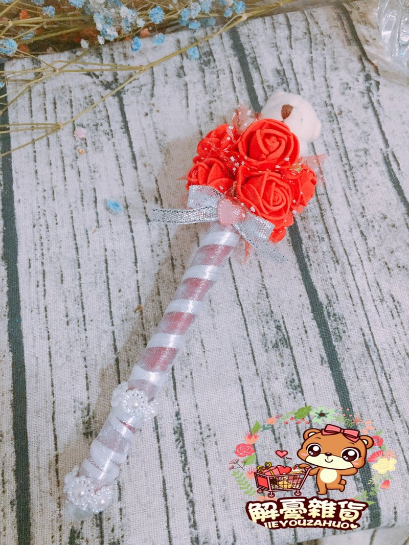 ?愛情玫瑰系列 玫瑰熊 婚禮簽名筆作品