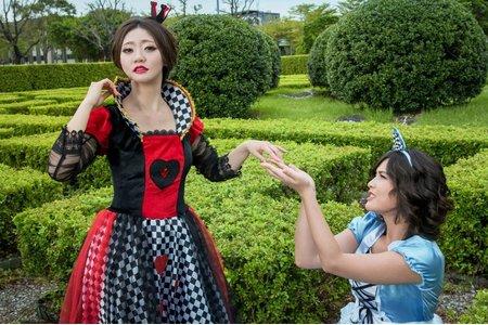 外拍閨密主題造型-愛麗絲夢遊仙境