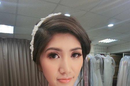 輕復古新娘造型