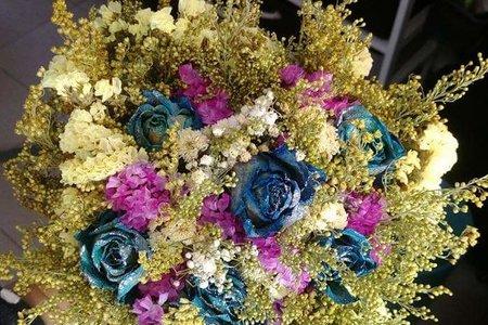 手作新娘捧花