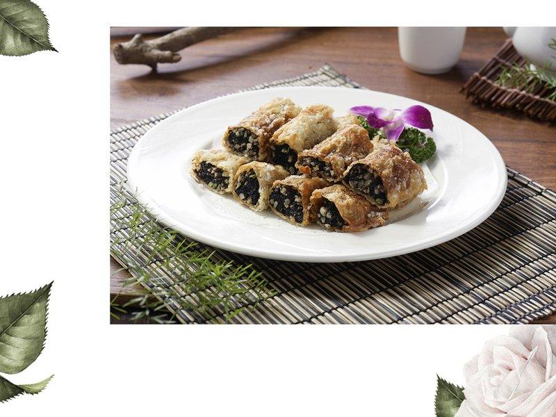 三熱炒-椒鹽髮菜捲