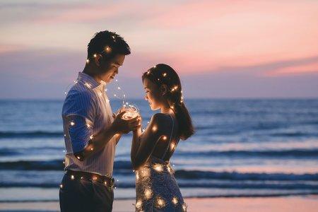 微光夕陽海景-婚紗攝影台中婚紗婚紗包套自助婚紗