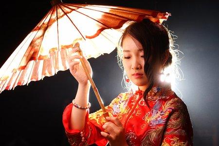 中式龍鳳掛婚紗