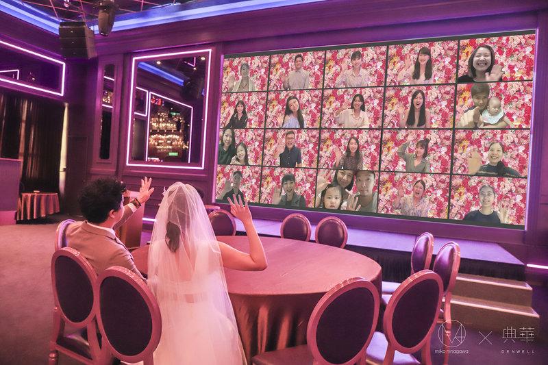 在Mika art space視訊婚禮
