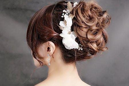 典雅新娘花包頭