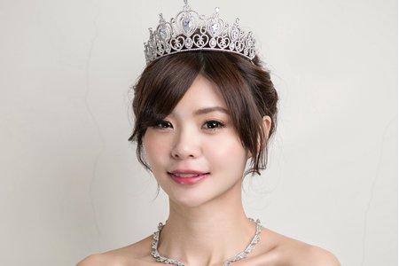優雅公主低盤髮造型