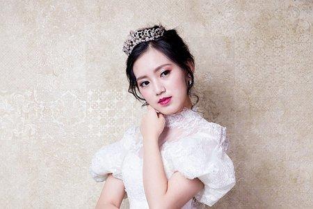 Minami  make-up.  復古白紗造型
