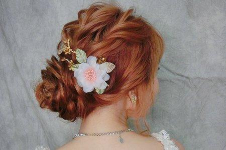 日系抽絲盤髮