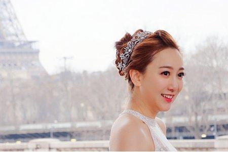 海外婚紗 法式高雅高盤髮