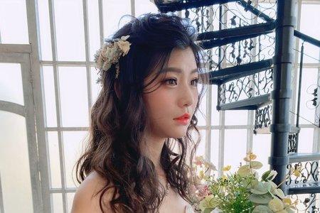 Minami新娘秘書/噴槍底妝-甜美仙氣波浪造型