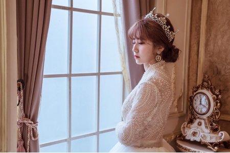 宮庭風皇冠婚紗