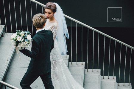 台南婚紗希臘風情婚紗館|因為愛,所以存在|