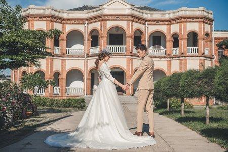 台南婚紗希臘風情婚紗館|我們的微復古婚紗