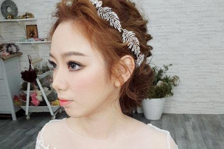 新娘各式風格造型(細軟髮,多種變化)